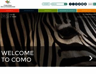 comozooconservatory.org screenshot