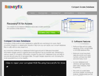 compactaccessdatabase.net screenshot