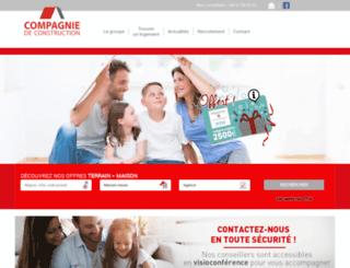 compagniedeconstruction.com screenshot