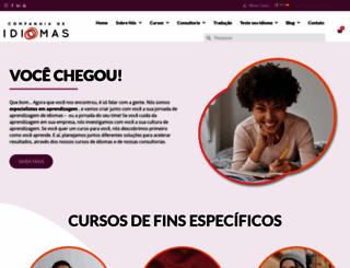 companhiadeidiomas.com.br screenshot