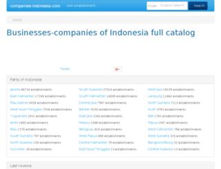 companies-indonesia.com screenshot