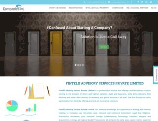companiesinc.in screenshot