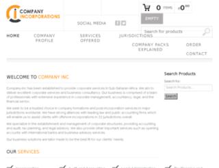 company-inc.co.za screenshot