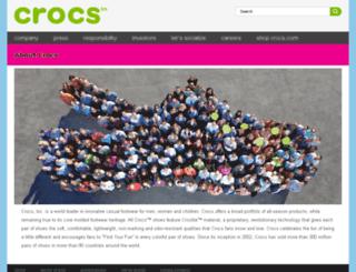 company.crocs.com screenshot