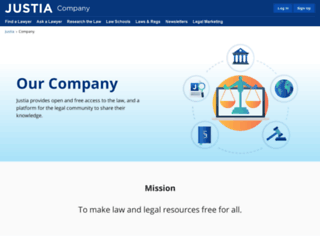 company.justia.com screenshot