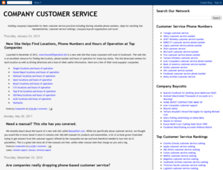 companycustomerservice.com screenshot