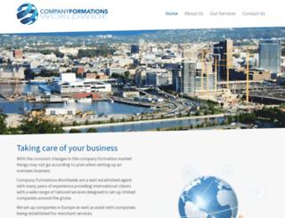 companyformationsworldwide.com screenshot