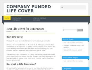 companyfundedlifecover.co.uk screenshot