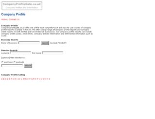 companyprofilegate.co.uk screenshot