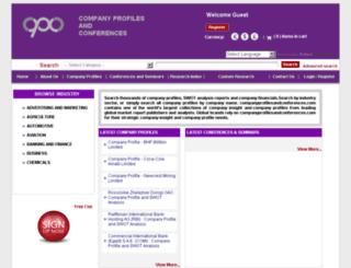 companyprofilesandconferences.com screenshot