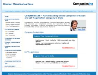 companyregistrationdelhi.com screenshot