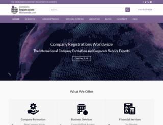 companyregistrationsworldwide.com screenshot