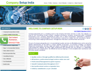 companysetupindia.com screenshot