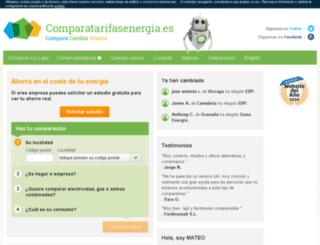 comparatarifasenergia.es screenshot