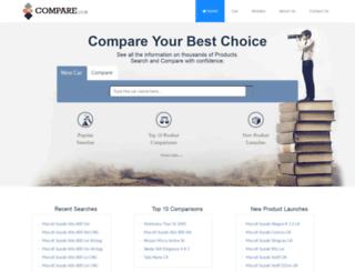 compare.co.in screenshot