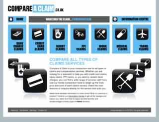 compareaclaim.com screenshot