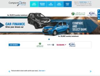 comparebanks.com.pk screenshot