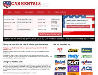 comparecarrentals.com screenshot