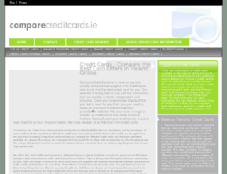 comparecreditcards.ie screenshot