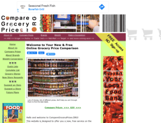 comparegroceryprices.org screenshot