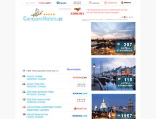 comparehotels.se screenshot