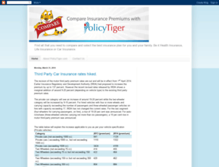 compareinsurance.policytiger.com screenshot
