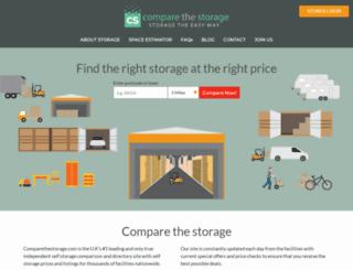 compareselfstorage.co.uk screenshot