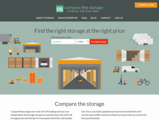 comparethestorage.co.uk screenshot