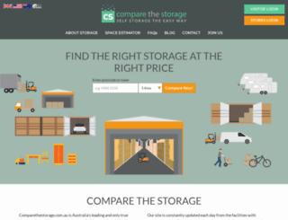 comparethestorage.com.au screenshot