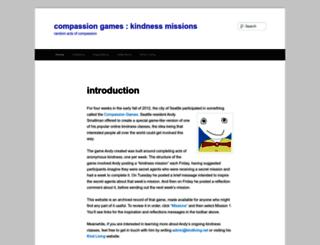 compassiongameskindness.wordpress.com screenshot