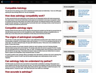 compatible-astrology.com screenshot