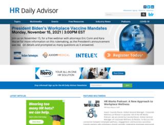 compensationdailyadvisor.blr.com screenshot