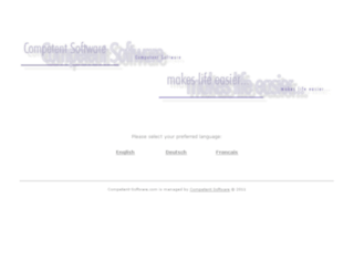 competent-software.com screenshot