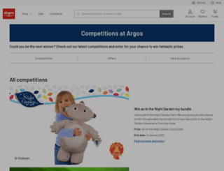 competitions.argos.co.uk screenshot