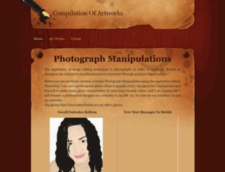 compilationofartworks.weebly.com screenshot