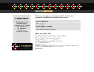 complaintline.com.au screenshot