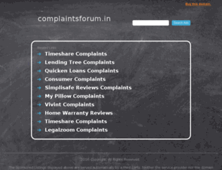 complaintsforum.in screenshot