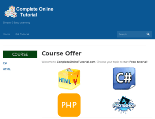 completeonlinetutorial.com screenshot