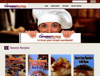 completerecipes.com screenshot