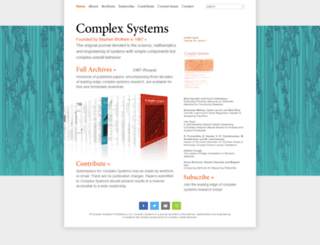 complex-systems.com screenshot