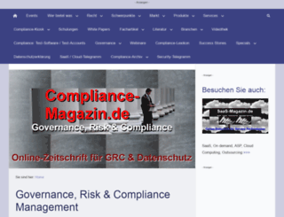 compliance-magazin.de screenshot