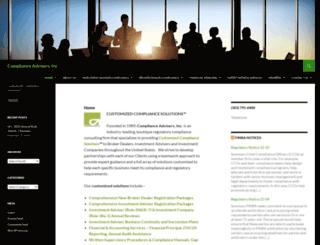 complianceadvisers.com screenshot