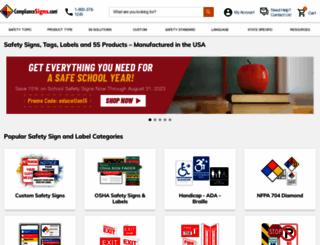 compliancesigns.com screenshot
