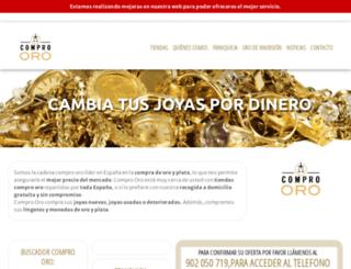 compro-oro.es screenshot