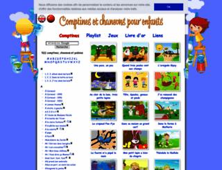 comptine.free.fr screenshot