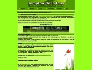 comptoirdelafaux.com screenshot