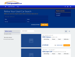 compucars.co.uk screenshot
