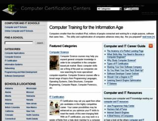 computercertificationcenters.com screenshot