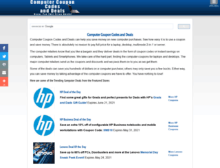 computercoupondeals.com screenshot