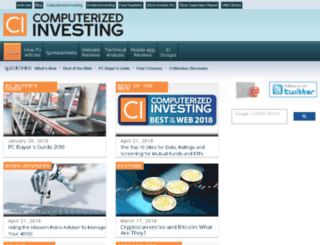 computerizedinvesting.com screenshot